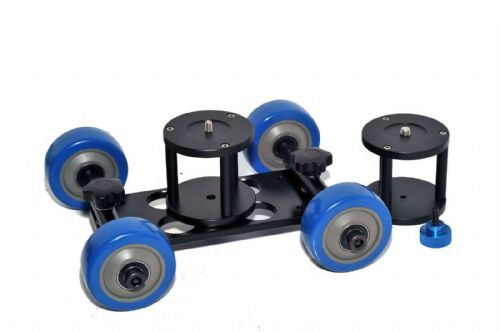 Heavy Duty Video DSLR Dolly High Quality Skater Wheels Adjustable 2xDolly Stands